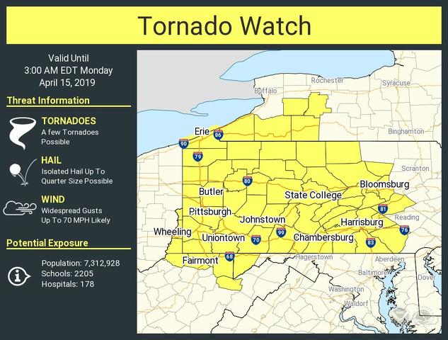 Tornado Watch Issued for Centre County