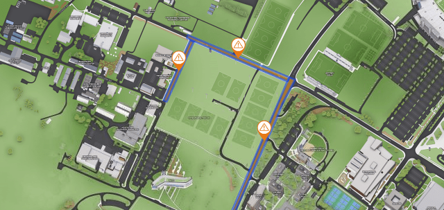 Movin' On to Close Campus Roads on Friday