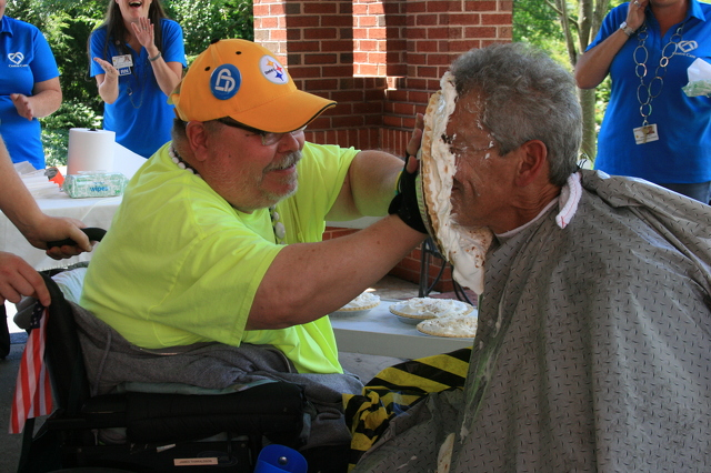 Pie-in-the-Face Fundraiser Raises Money for New Centre Care Nursing Facility