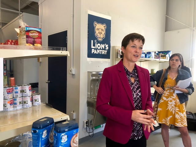 Pa. Human Services Secretary Visits Lion's Pantry to Discuss Efforts to Combat Food Insecurity