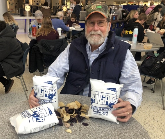 Retired PSU Professor Creates Blue and White Potato Chips