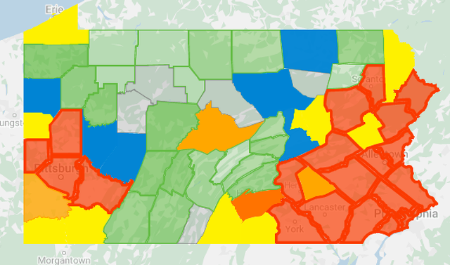 Health Department Reports 1,211 New Cases of COVID-19 in Pa., 1 New Case in Centre County