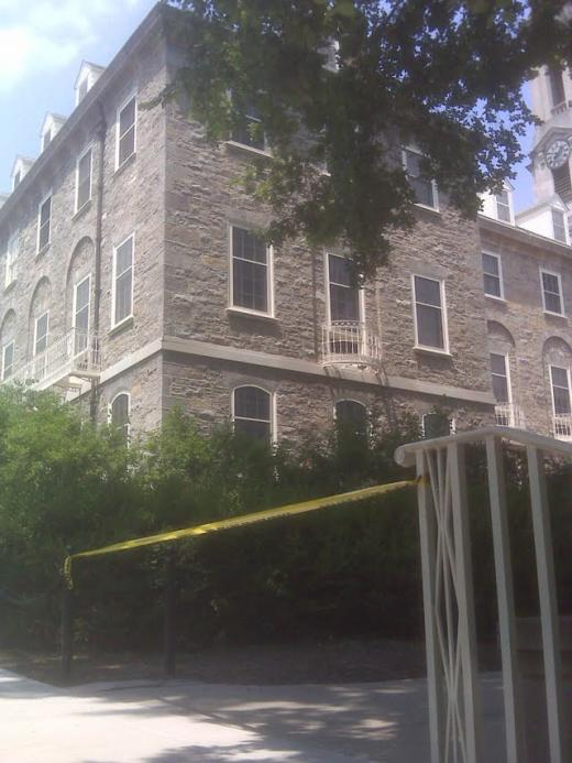 All-Clear Sounded At Old Main; Package Identified As Class Project