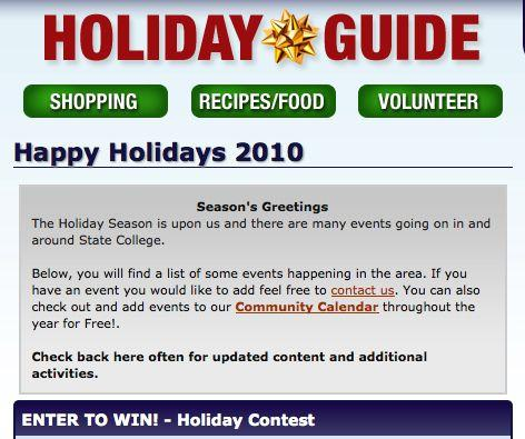 StateCollege.com Holiday Guide Covers Local Shopping, Volunteerism, Events and More