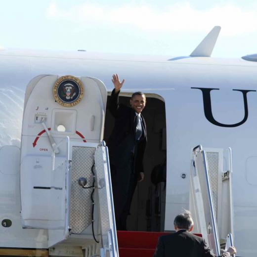 PHOTOS: President Obama and Air Force One in State College