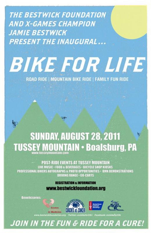 X-Games Champion Jamie Bestwick to Host 'Bike for Life' at Tussey Mountain