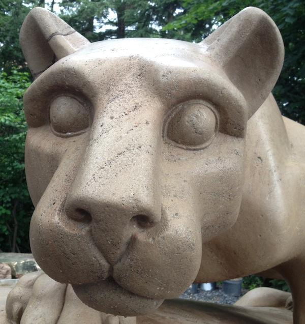 Nittany Lion Emerges For Graduation
