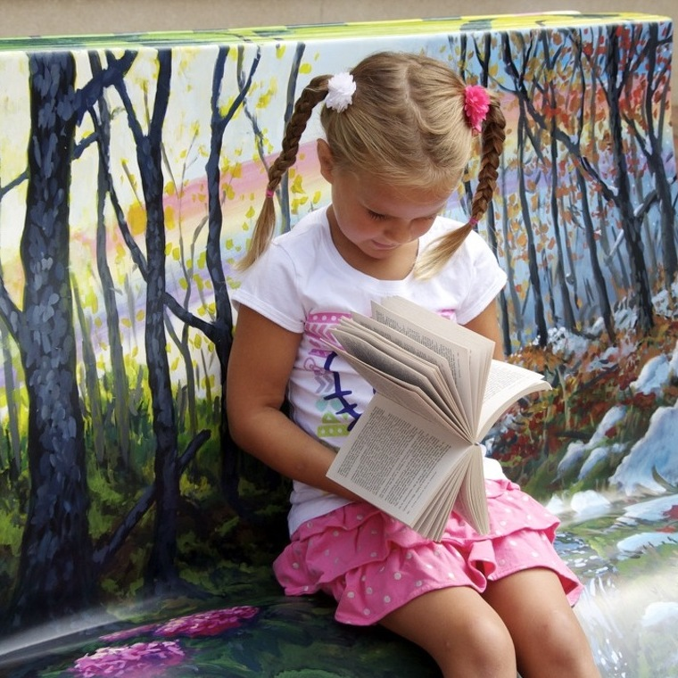 Book Benches Unveiled at Arts Fest Celebrate Centre County