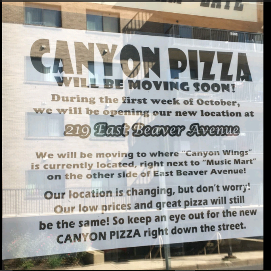 Canyon Pizza Moving to New Home at Canyon Wings