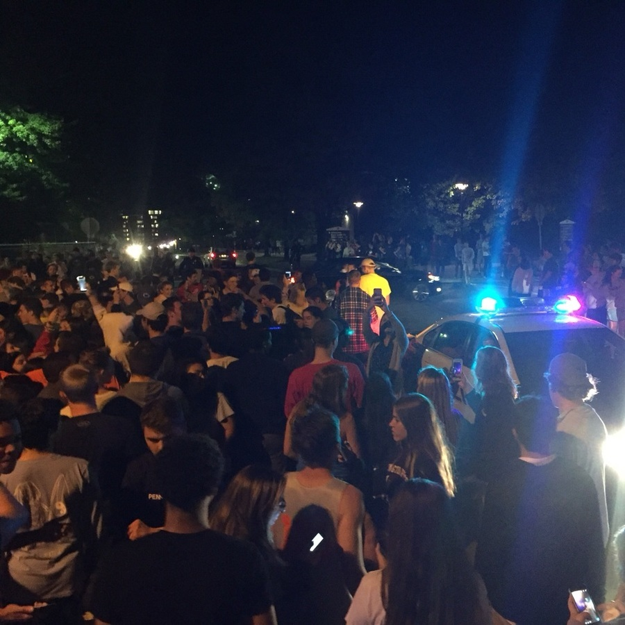 Students Rally on Campus, Downtown Over Alleged Clown Sighting