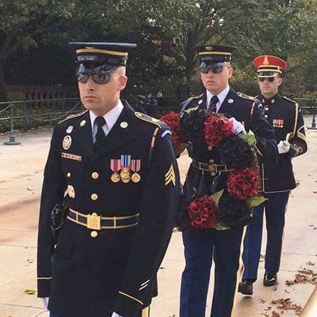Family Places Wreath at Tomb of the Unknowns in Memory of Missing State College Marine