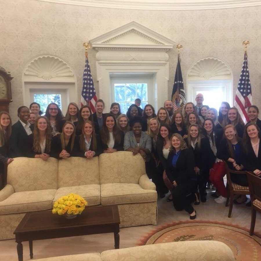 Penn State Women's Rugby, Wrestling Teams Honored at White House