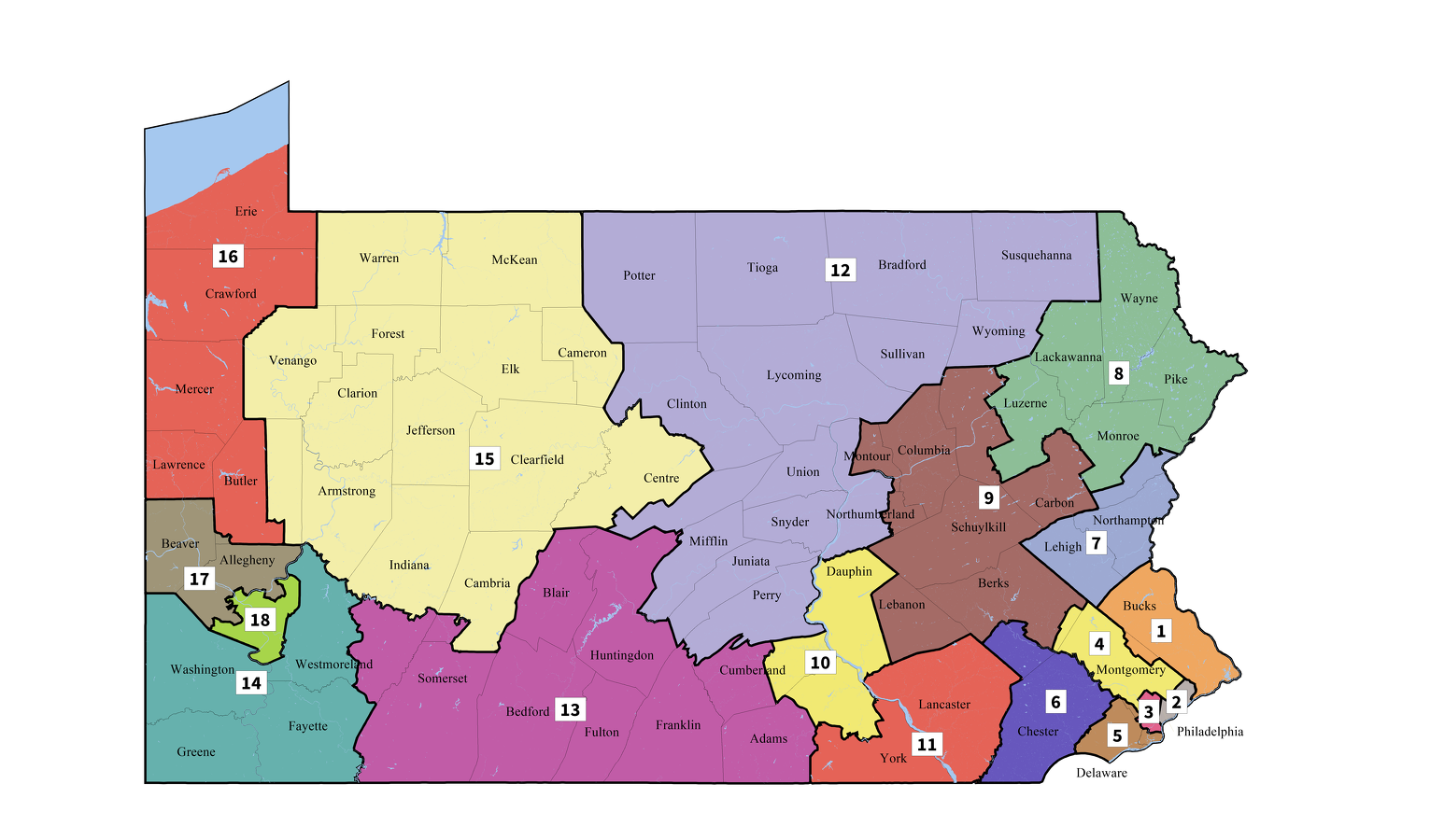 Picture of: State College Pa New Pennsylvania Congressional Map Splits Centre County
