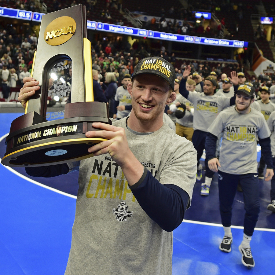 PSU grapplers earn third straight national title