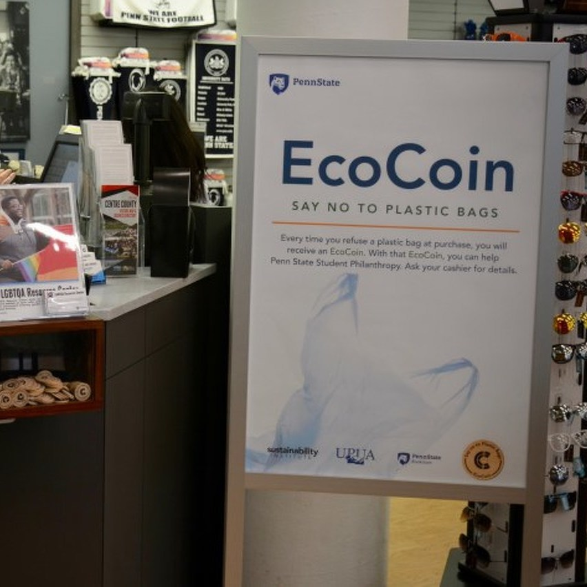 Penn State Bookstore Introduces EcoCoins as Incentive to Reduce Plastic Bag Use