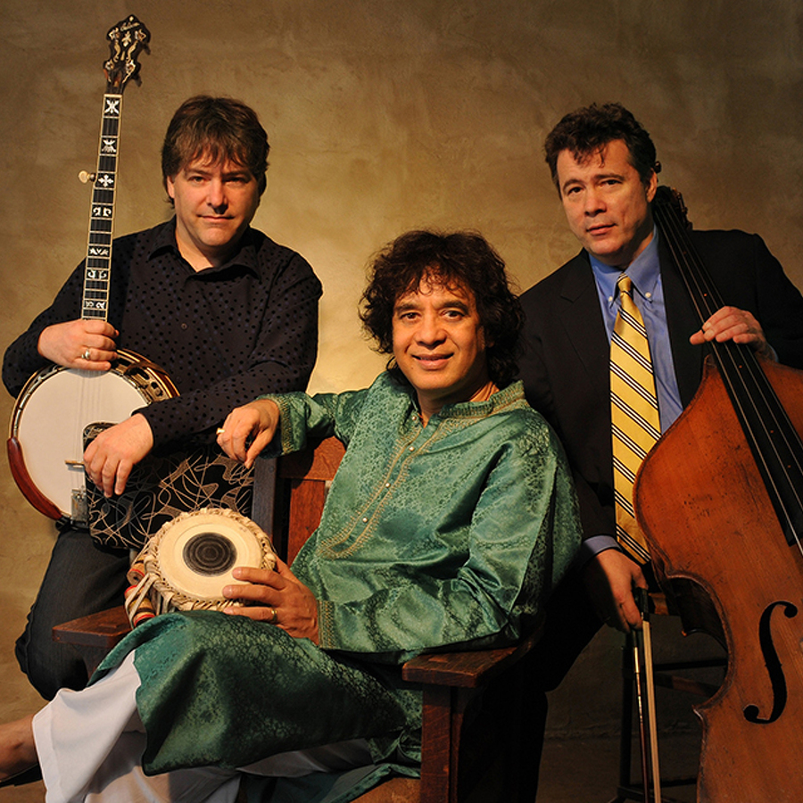 Béla Fleck will make eighth Eisenhower appearance, this time with Hussain, Meyer, and Chaurasia
