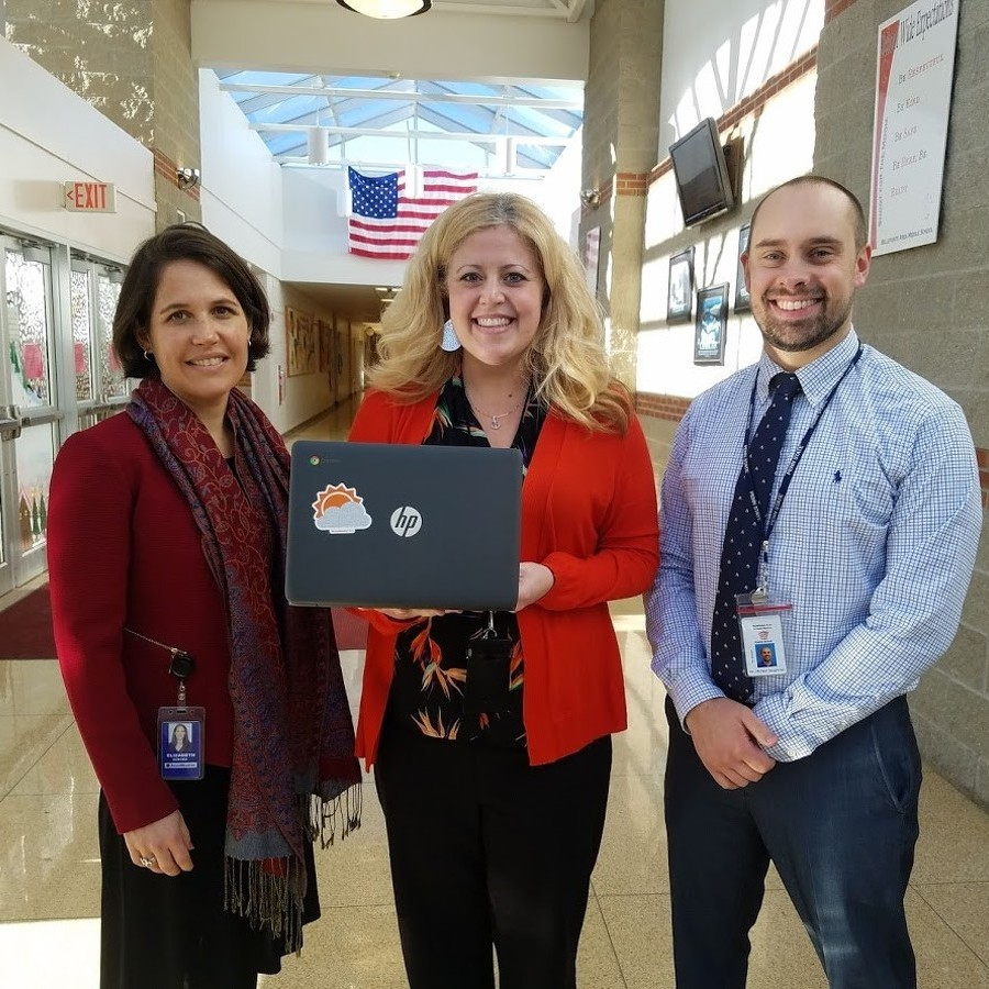AccuWeather Donates Chromebooks to Bellefonte Area Middle School
