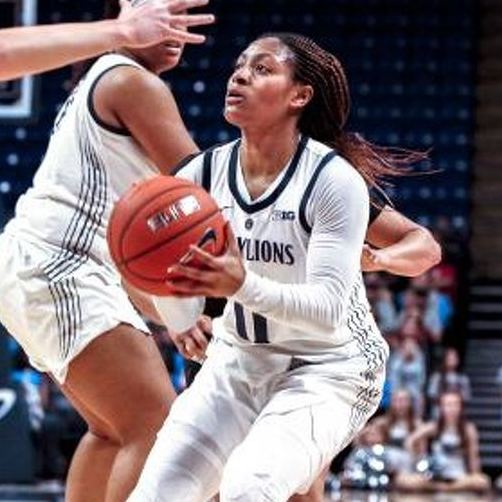 Lady Lions Fall to Iowa; Page Scores 2000th Career Point