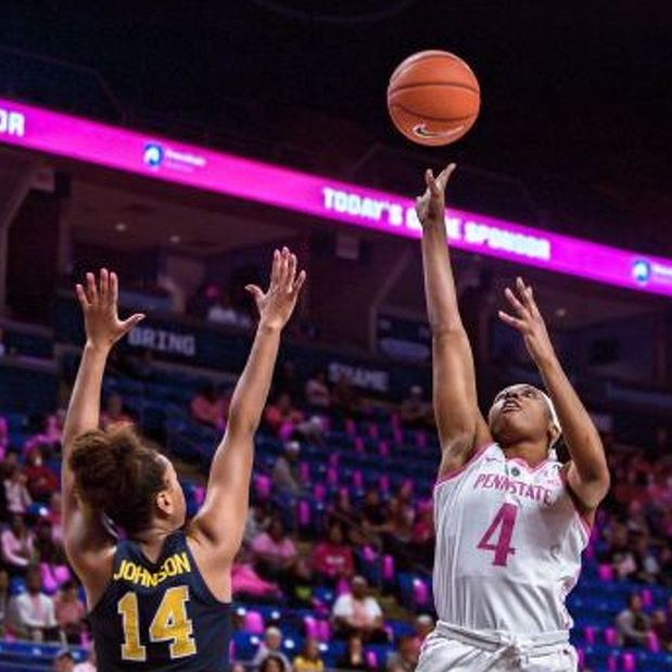 Lady Lions Fall Short Against Michigan in Pink Zone Game