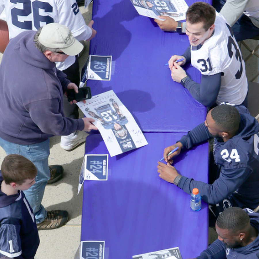 Penn State Football: Blue White Autograph Session Information Released
