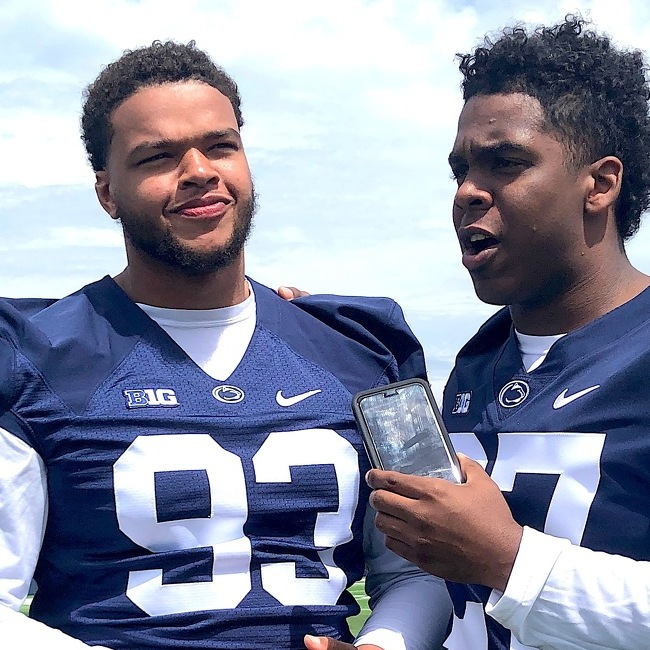Penn State Football: Budding Broadcaster Aeneas Hawkins Does My Job & Interviews Teammate PJ Mustipher