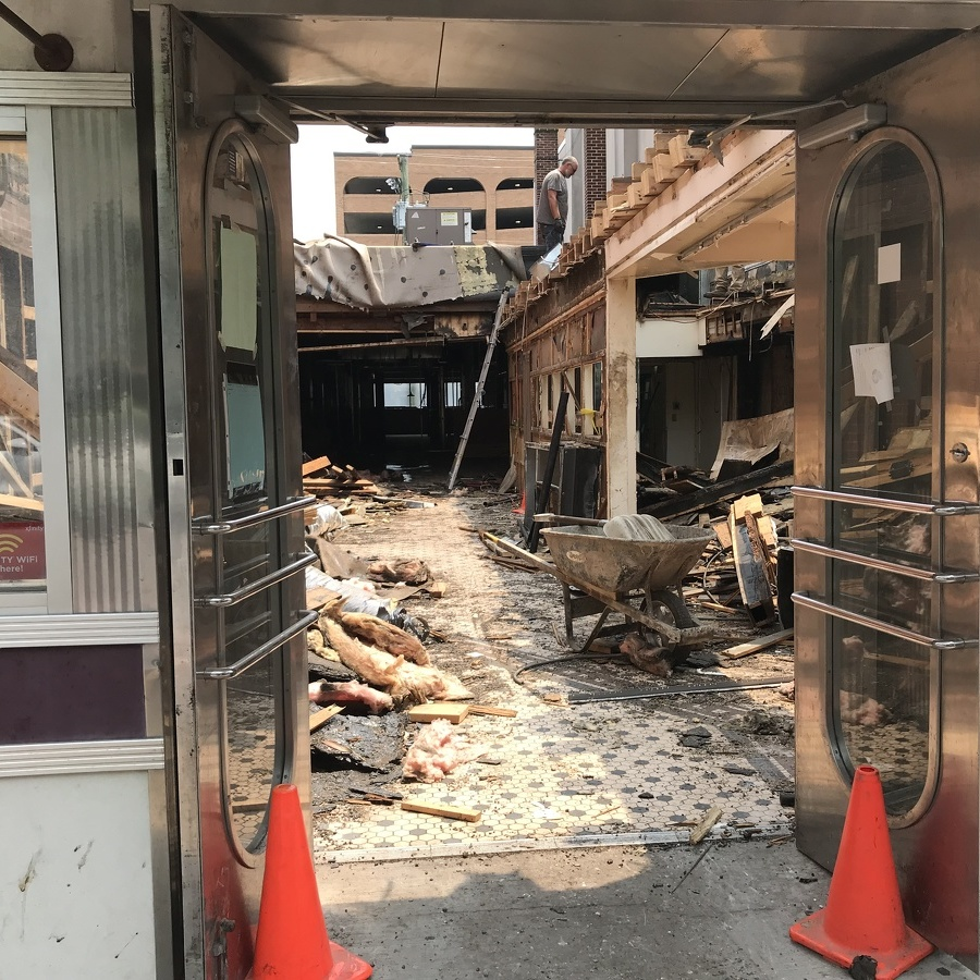 The Former Diner Gutted, Construction Underway for Hello Bistro