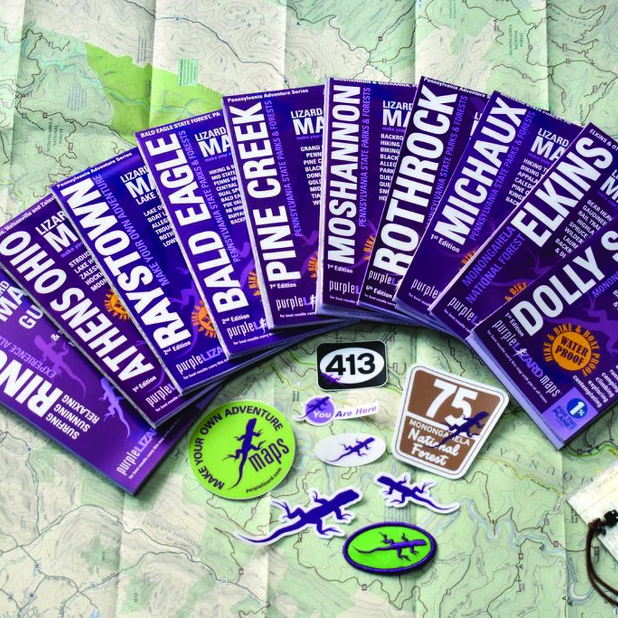 No Ordinary Map: With their boots-on-the-ground detail, Purple Lizard Maps have become a staple for outdoors enthusiasts