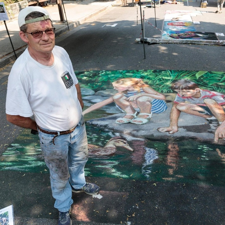 Street Painting Takes Center Stage at This Year's Arts Festival