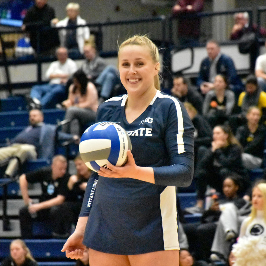 Penn State Women's Volleyball Defeats Towson to Reach Sweet 16; Kendall White Sets Digs Record