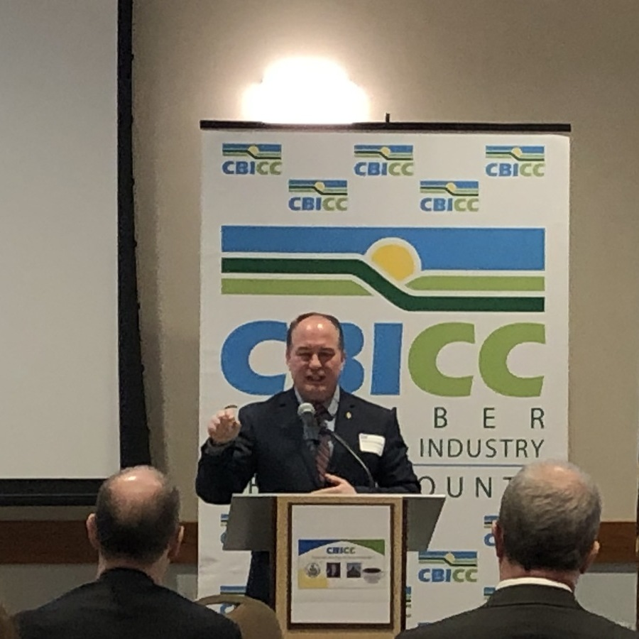 Benninghoff discusses future at CBICC luncheon