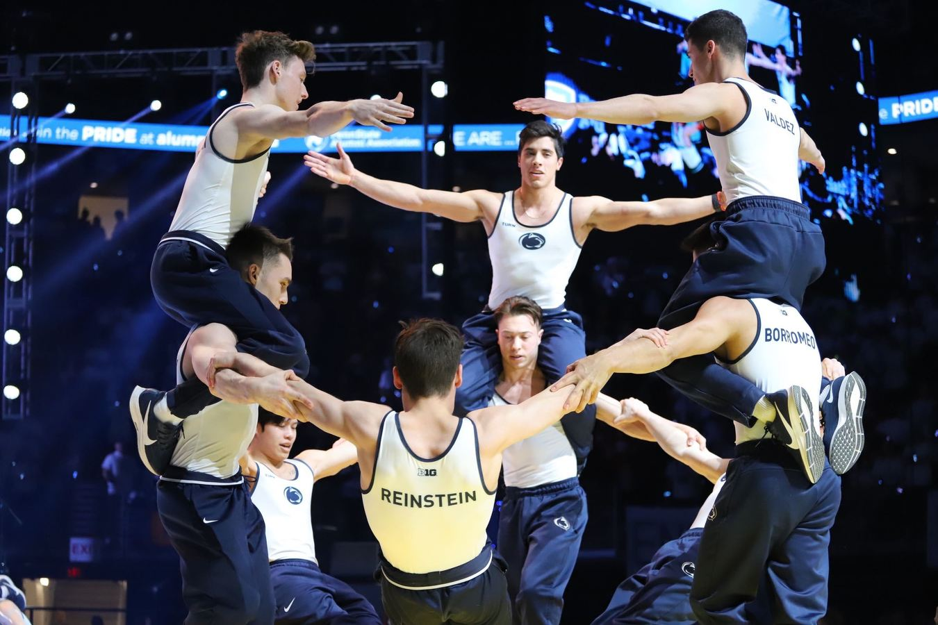 State College Pa Watch Penn State Men S Gymnastics Wins Again At Thon 2020 Pep Rally