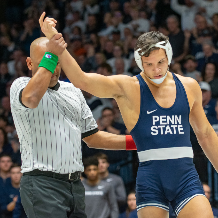 No. 2 Penn State Wrestling Ends Regular Season with 40-3 Blowout of American