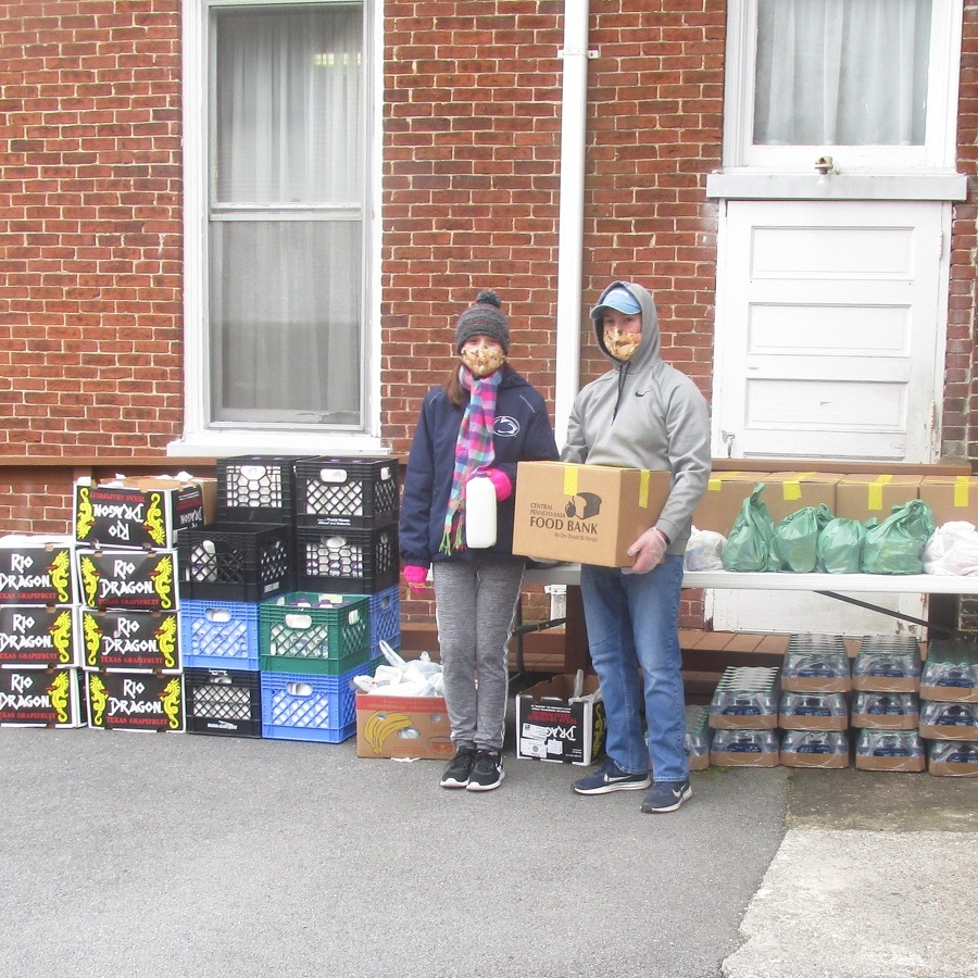 Penns Valley groups unite to distribute food to those in need