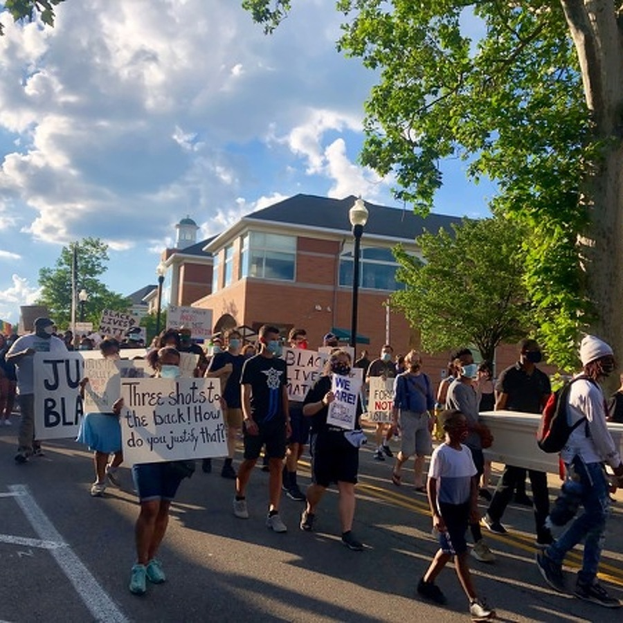 Community Members Gather for Black Lives Matter March, Teach-In
